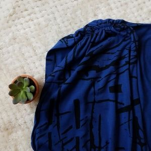 Primp Pants - Primp blue and black pattern Romper